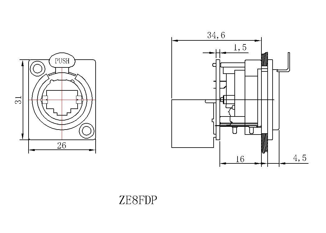 产品描述:  1、统一金属法兰的D样式;  2、根据TIA/EIA568B和ISO/IEC11801标准,插座符合D等级;  3、D样式,可从面板前或面板后安装;  4、后端为水平PCB板焊接式,可自由转换多种接口,安装空间大大减少。